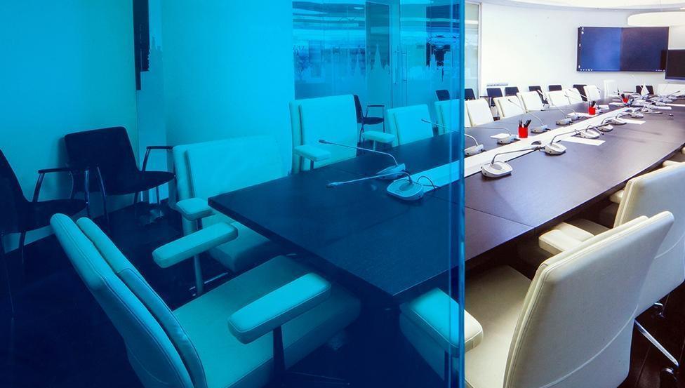 Open vergaderen of net meer privacy creëren? PRIVA-LITE regelt het met één druk op de knop.