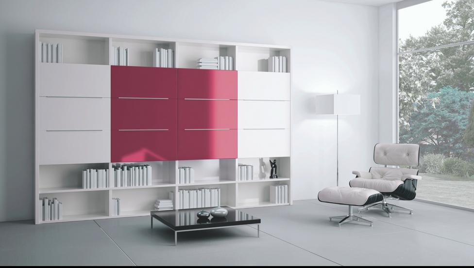 Gekleurd gelakt glas PLANILAQUE COLOR-IT als meubelfront