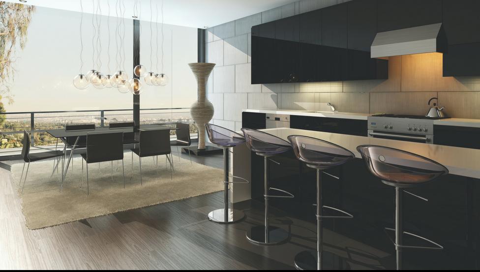 Keuken afgewerkt met spatwanden PLANILAQUE COLOR-IT